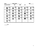 Upper and Lowercase Letter/Sound Assessment
