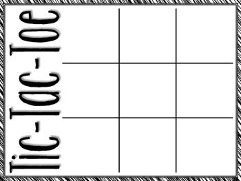Upper and Lowercase Letter Tic-Tac-Toe
