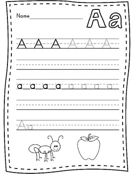Upper and Lowercase Letter Writing