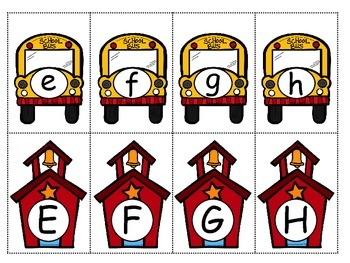 Upper and Lowercase Match Up - TWO SETS EACH MONTH!!