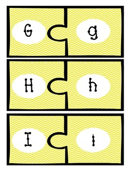 Upper and Lowercase Matching Puzzle