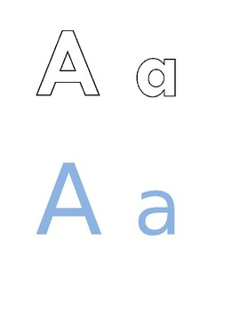 Upper and lower case flash cards