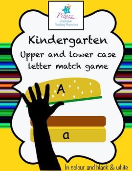 Upper and lower case letter match- Kindergarten