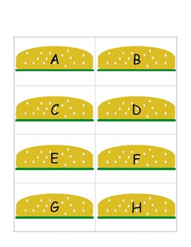 Upper and lower case letter match- Kindergarten