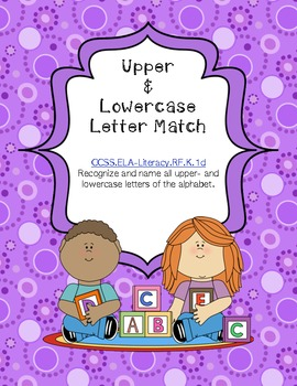 Upper and lowercase ABC letter match - Common Core alligned