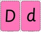 Upper and lowercase Letter Flashcards set