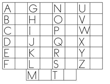 Upper case letter writing with model worksheet