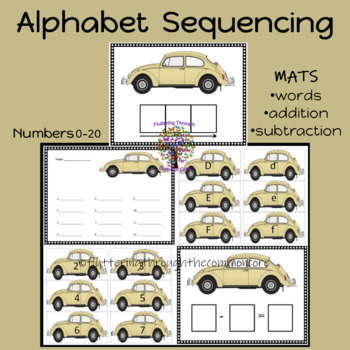 Alphabet and Number Cards Uppercase and Lowercase Numbers