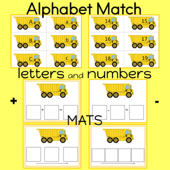 Alphabet Sequencing and Matching Cards Numbers 0-20 included