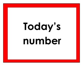 Upper grade Number of the Day Wall Cards