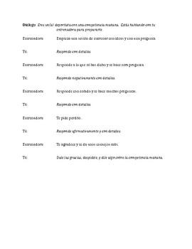 Upper level/AP Spanish dialogue: sports