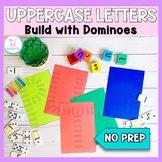 UpperCase Letter Cards NO PREP: Domino Build