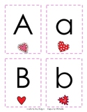Upper/Lower Case Matching Game {Valentines Edition}