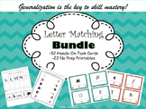 Reading Center Clip-It Task Cards & Printables Letter Matching  BUNDLE!
