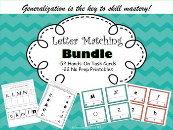 Reading Center Clip-It Task Cards & Printables Letter Matc