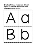 Upper/Lowercase Letter Match Cards