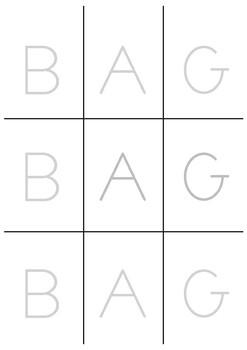 Uppercase 3 Letter Word (Free Sample)