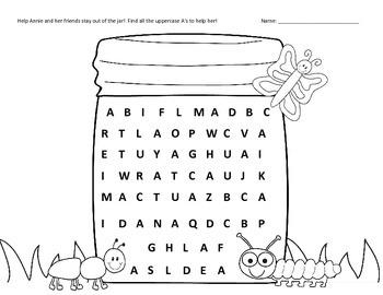 uppercase a z letter search printable worksheets by worksheetjunkie