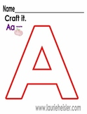 Uppercase Alphabet A-Z Craft it