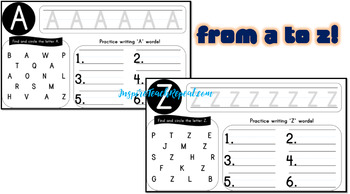 Uppercase Alphabet A-Z Writing Practice *Full Bleed Version*