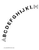 Uppercase Alphabet Arc - Dyslexia Programs