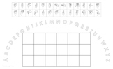 Uppercase Alphabet Arc Mat with American Sign Language and