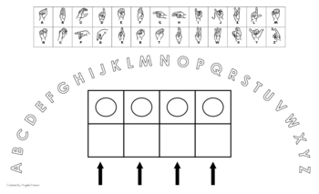 Uppercase Alphabet Arc with American Sign Language and Elkonin Boxes