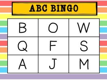 Uppercase Alphabet Bingo (uppercase letters only)