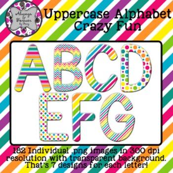 Alphabet Clip Art-Crazy Fun Uppercase