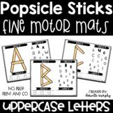 Uppercase Alphabet Fine Motor Mats Popsicle Sticks