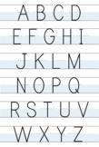 Uppercase Alphabet Handwriting Poster- Magnolia Style