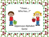 Uppercase Alphabet I have...Who has...? Apple theme Game