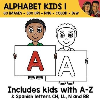 Uppercase Alphabet Kids Clipart 1
