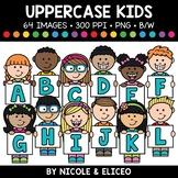Uppercase Alphabet Kids Clipart