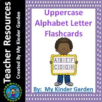 Uppercase Alphabet Letter Flashcards Purple Dot