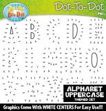 Uppercase Alphabet Letters Dot-To-Dot Clipart {Zip-A-Dee-Doo-Dah Designs}