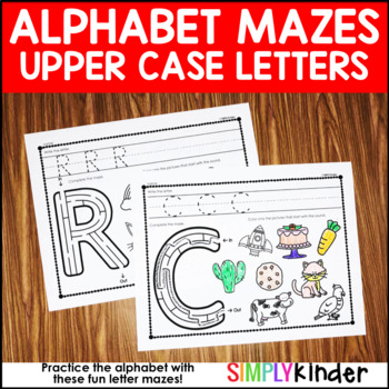 Uppercase Alphabet Mazes