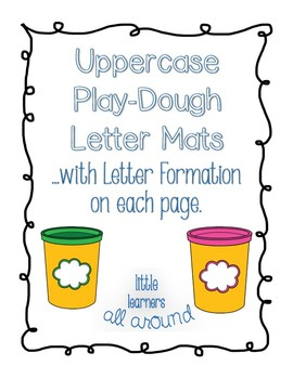 Uppercase Alphabet Play-Dough Mat