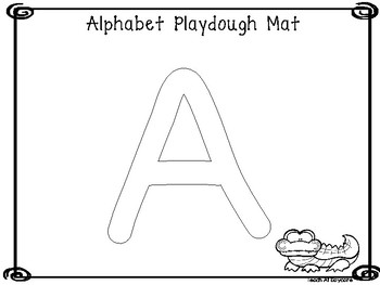 Uppercase Alphabet Playdough Mat Worksheets. Preschool-KDG Phonics and Literacy.