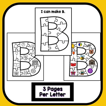 Uppercase Alphabet Puzzles for Preschool and Kindergarten