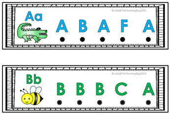 Uppercase Alphabet Recognition Card Activity