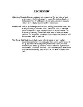 Uppercase Alphabet Review