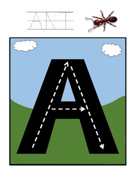 Uppercase Alphabet Road