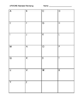 Uppercase Alphabet Stamping Practice