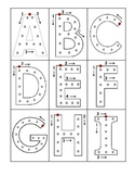 Uppercase Alphabet Tracing Cards
