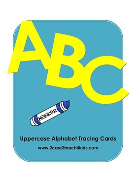 Uppercase Alphabet Tracing Cards - A PDF File