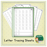 Uppercase Alphabet Tracing Workbook  ~* Start Points *~ Blank Edge for Binding