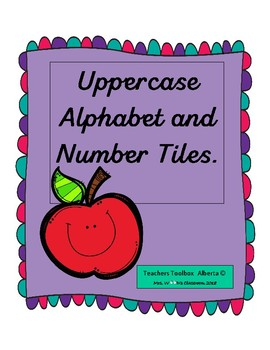Uppercase Alphabet and Number Tiles 1 -10 preview file