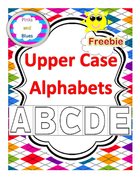 Freebie Hollow Uppercase Alphabets