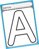 Uppercase Capital Letter Template Outlines